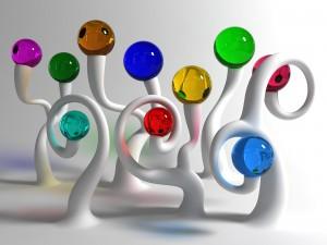 Desktop Wallpaper: Multicolored Funny B...