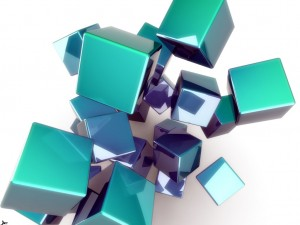 Desktop Wallpaper: Green Cubes