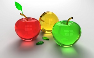 Desktop Wallpaper: Multicolored Apples