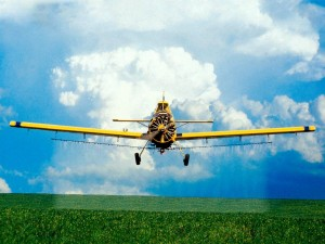 Desktop Wallpaper: Crop Spraying