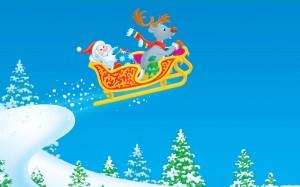 Desktop Wallpaper: Animated Santa