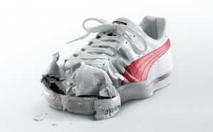 Desktop Wallpaper: Torn Shoes