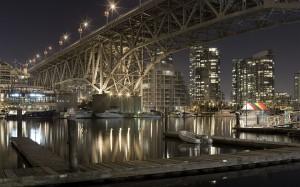 Desktop Wallpaper: Port at Night