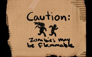 Desktop Wallpaper: Caution: Zombies!