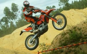 Desktop Wallpaper: Stunts on the Bike