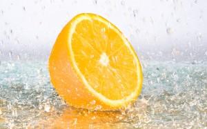 Desktop Wallpaper: Orange and Icy Drops