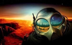 Desktop Wallpaper: Alien with Big Eyes