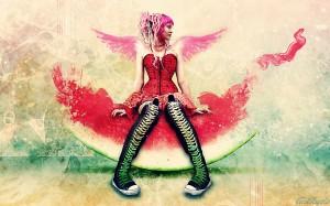Desktop Wallpaper: Sunny Watermelon