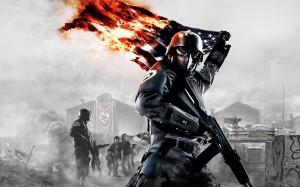 Desktop Wallpaper: Flag in Fire