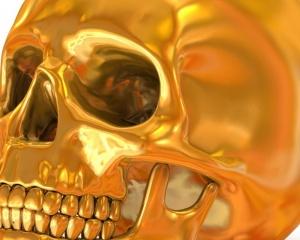 Desktop Wallpaper: Golden Death's Head