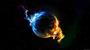 Flame of Two Colors - скачать обои на рабочий стол