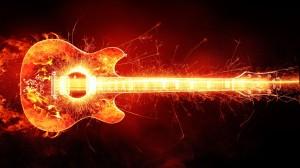 Burning Guitar - скачать обои на рабочий стол