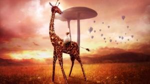 Desktop Wallpaper: 3d-giraffe