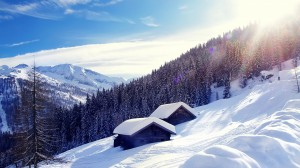 Desktop Wallpaper: Winter Skyline