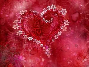 Desktop Wallpaper: Flower Heart