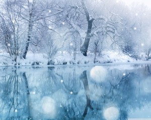Desktop Wallpaper: Snow-covered Landsca...