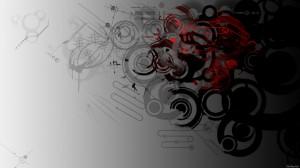 Desktop Wallpaper: Black and Red Circle...