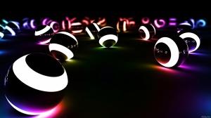 Desktop Wallpaper: Luminous Spheres
