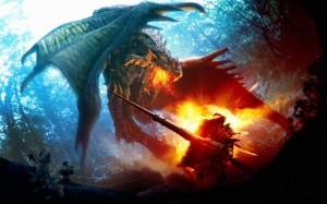 Desktop Wallpaper: Fight with Dragon