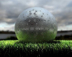 Desktop Wallpaper: Steel Sphere