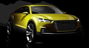 Desktop Wallpaper: Yellow Audi Concept ...