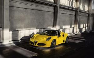 Desktop Wallpaper: Yellow Alfa Romeo 4c