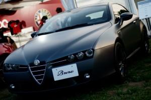Desktop Wallpaper: Black Alfa Romeo Cou...