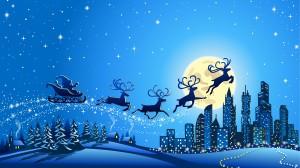 Desktop Wallpaper: Blue Reindeers Illus...