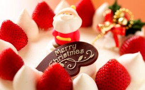 Desktop Wallpaper: Strawberry Christmas...