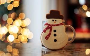 Desktop Wallpaper: Snowman Gingerbread