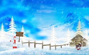 Snow Man - скачать обои на рабочий стол