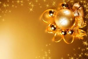 Desktop Wallpaper: Gold Christmas Ball