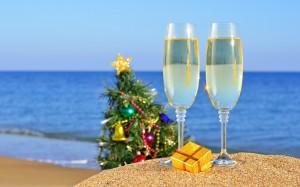 Desktop Wallpaper: Clear Champagne Glas...