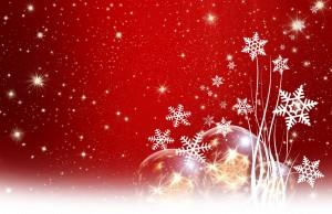 Desktop Wallpaper: Gold Christmas Balls...