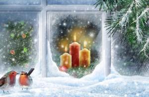 Desktop Wallpaper: Red Wax Pillar Candl...