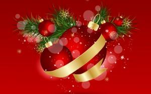 Desktop Wallpaper: Red Christmas Ball O...