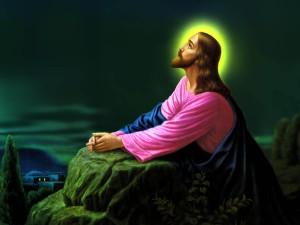 Desktop Wallpaper: Jesus Christ Kneelin...