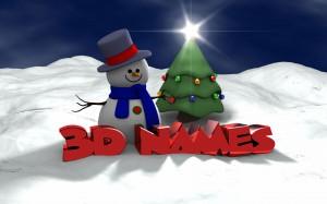 Desktop Wallpaper: 3d Names Snow Man
