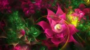 Purple And Green Floral Wallpaper - скачать обои на рабочий стол
