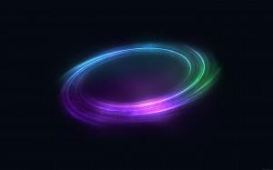 Desktop Wallpaper: Purple Green Blue Li...
