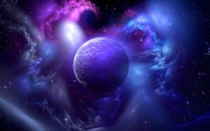 Desktop Wallpaper: Purple Planet Illust...