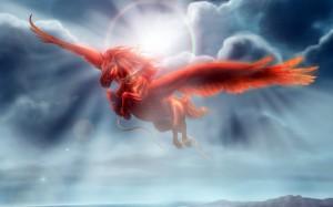 Desktop Wallpaper: Red Pegasus