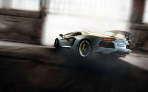 White Lamborghini Aventador - скачать обои на рабочий стол