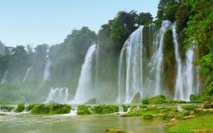 Desktop Wallpaper: Waterfalls Illustrat...