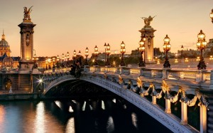 Desktop Wallpaper: Lit City Bridge