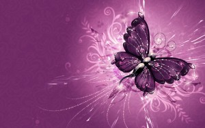 Desktop Wallpaper: Purple Butterfly Ill...