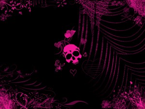 Desktop Wallpaper: Pink Skull Illustrat...