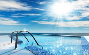 Desktop Wallpaper: Blue Tiled Swimming ...