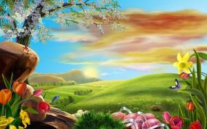 Desktop Wallpaper: Green Hill Surrounde...