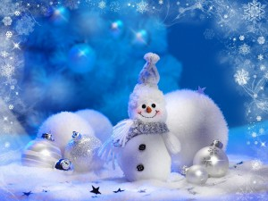 Desktop Wallpaper: White Snowman Illust...